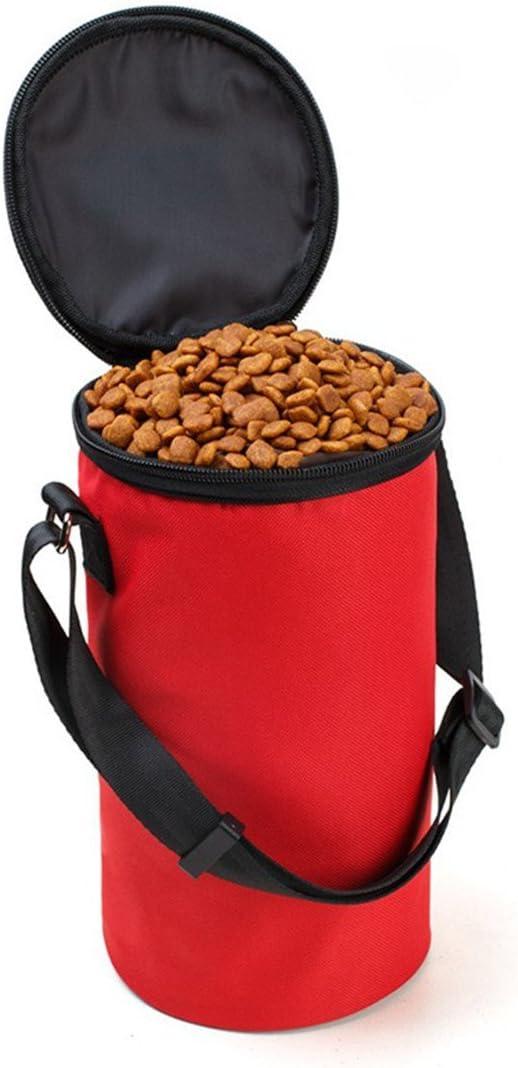 Beneyond Pet Supplies, Dog Food Bags, Travel, Portable Folding, Large-Capacity Dog Bowl,Dog Bowl Collapsible (red)