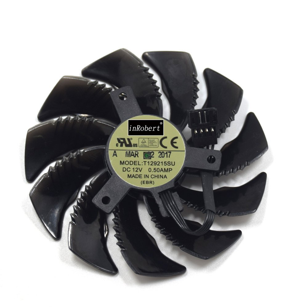 inRobert 88mm P106-100 Graphics Card Cooling Fan for Gigabyte GeForce GTX 1050 Ti RX 480 470 570 580 GTX 1060 G1 Gaming Cooler (Fan-B)