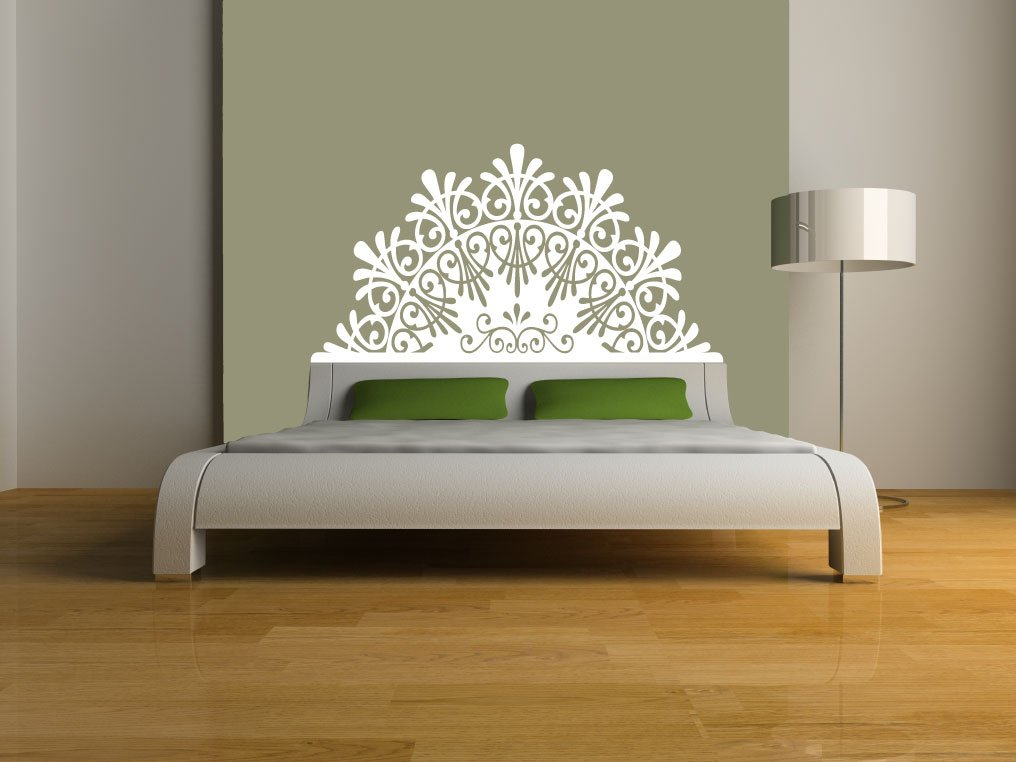 Amazon.com: Headboard Decal,elegant, Vinyl Wall Sticker (Gold U2013 Metallic,  DOUBLE/FULL: 55u201dW X 29u2033H): Home U0026 Kitchen