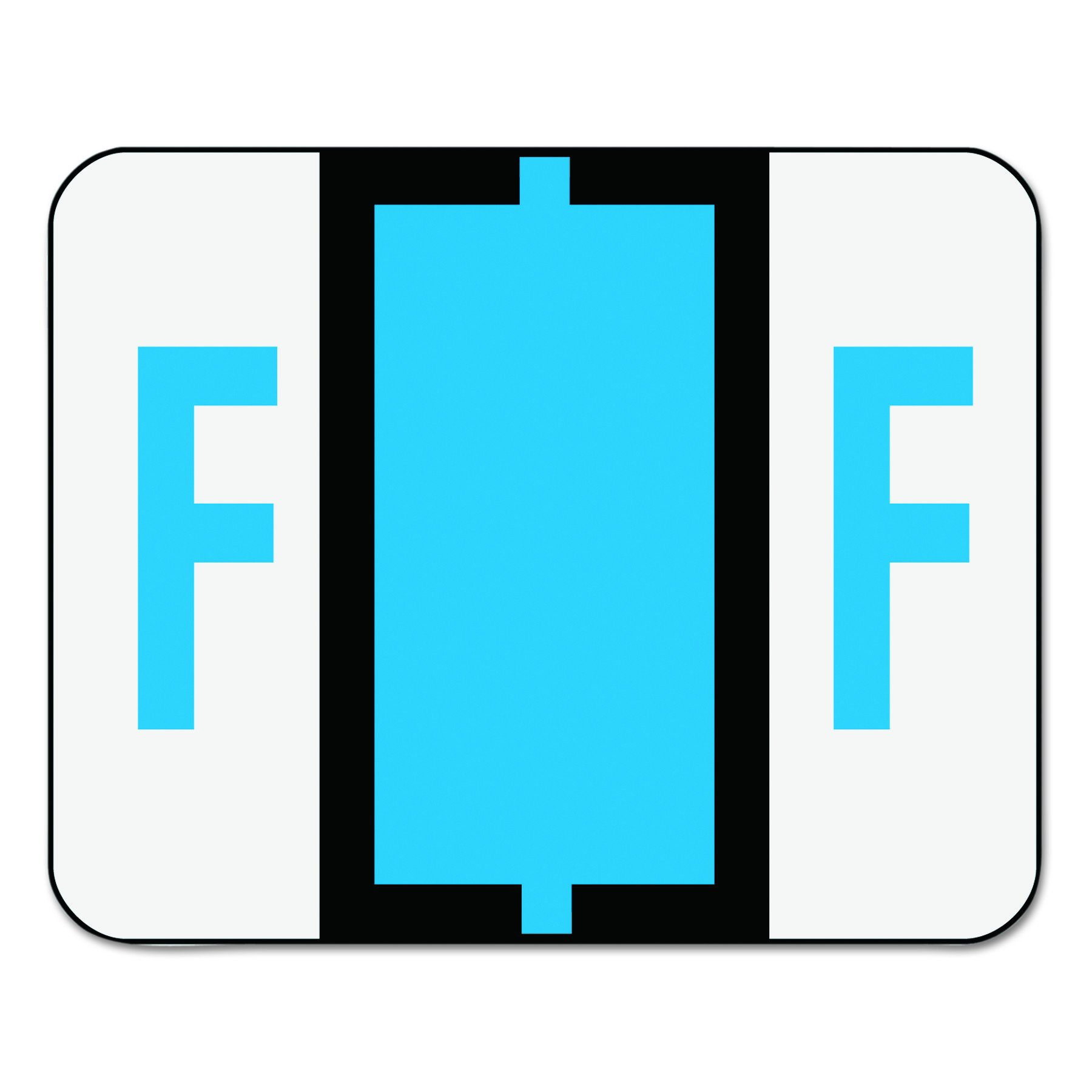 Smead BCCR Bar-Style Alphabetic Color-Coded Labels, Letter F, Blue, 500 Labels per Roll (67076) by Smead