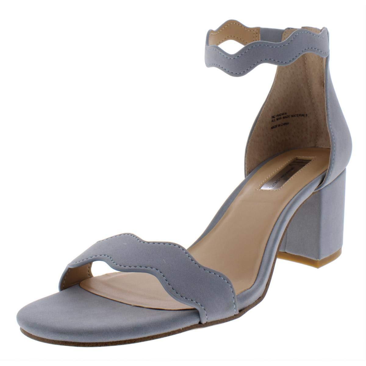 - Inc Womens Hadwin Faux Leather Scalloped Heels bluee 5 Medium (B,M)