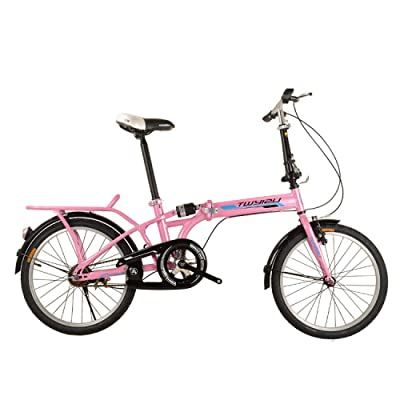 LINGS Foldable Bicycle Kids' Bikes Folding Bicycle Suspension Portable Adult Child Folding Bike Bicycle 12 Inch: Home & Kitchen