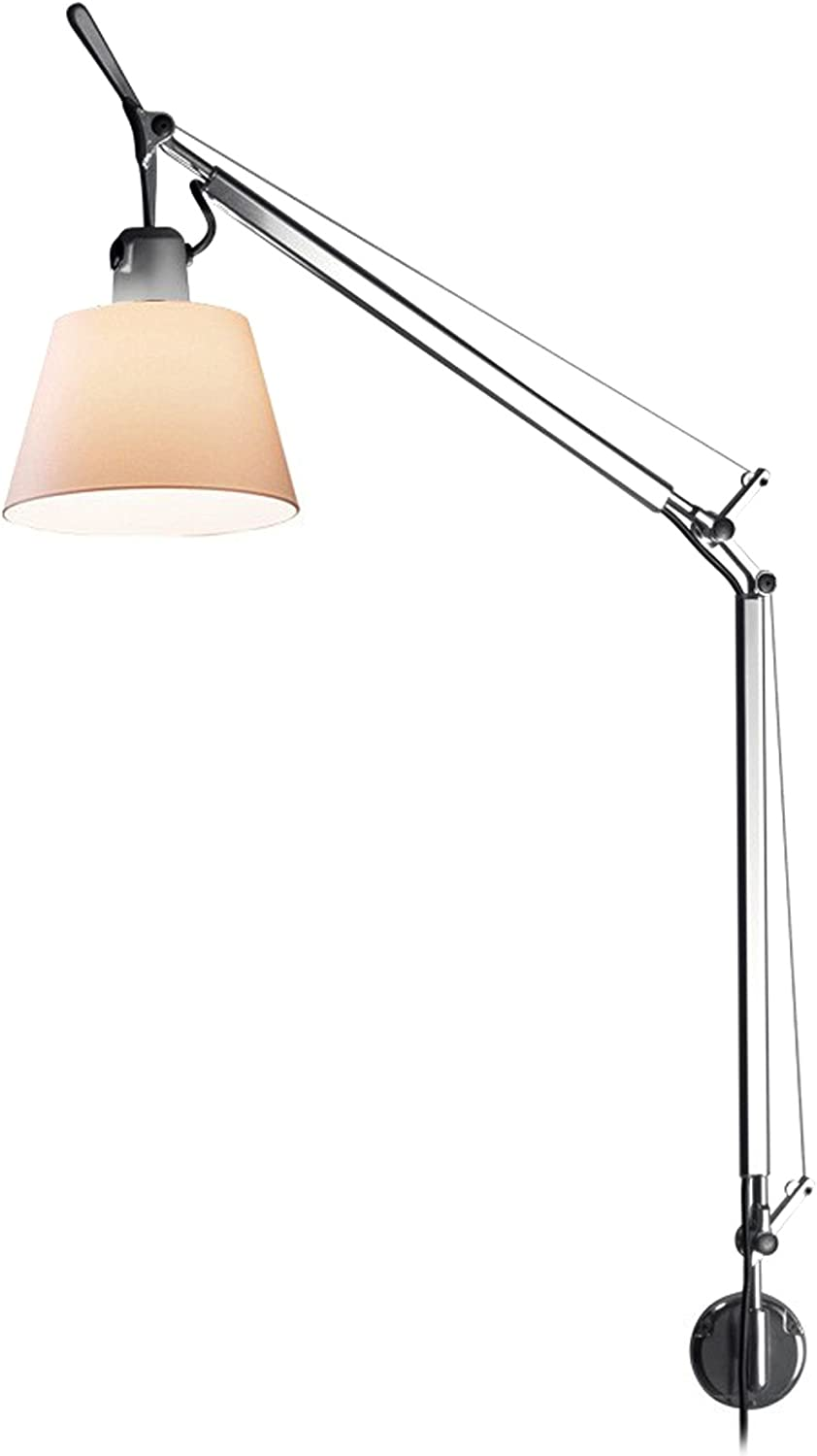 Artemide Tolomeo Tilting Diffuser Wall Lamp Parchment Wall Bracket