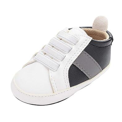 ZOREFINE ♥ Baby Boy Girl Zapatillas de Deporte de Cuero ...