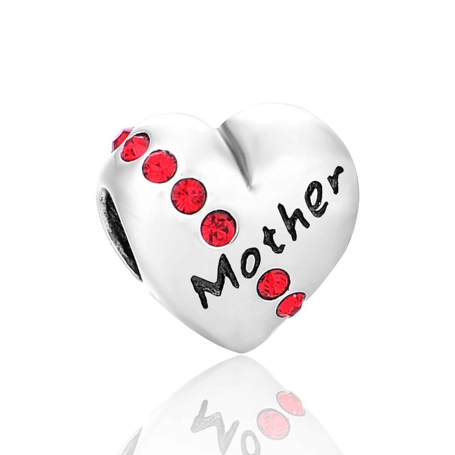 Globalwin Jewellery 925 Sterling Silver Love Family Charm Fit for Pandora Bracelets
