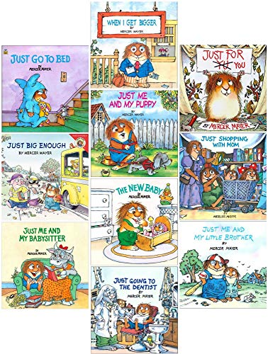 Set of Ten (10) Little Critter Stories Books (Just For You, When I Get Bigger, Just Me and My Puppy, The New Baby, Just Me and My Babysitter, Just Shopping With Mom, Just Going to The Dentist, At Scout Camp, Just Me and My Little Brother, Just Go To Bed)