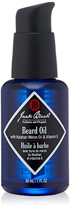 JACK BLACK – Beard Oil – PureScience Formula, Helps Prevent Dry, Itchy Skin, Fast-Absorbing Natural Oils, Lightly Scented with Botanicals and Essential Oils, Certified Organic Ingredients, 1 oz.