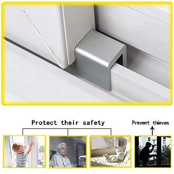 Schloss aus Aluminiumlegierung 4 PCS Fenstersicherung Yuccer Fenster Sicherungen Kinder Fenstersicherung f/ür Baby und Kind Sicherheit