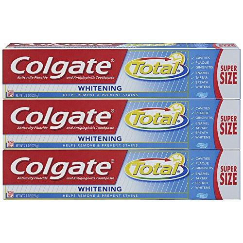 Plus Whitening Gel Toothpaste (Colgate Total Whitening Toothpaste, Gel - 7.8 ounce (3 Pack))