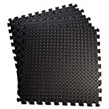 Giantex 48 Sq Ft EVA Foam Floor Interlocking Mat Show Floor Garage Gym Mat (Black) Review