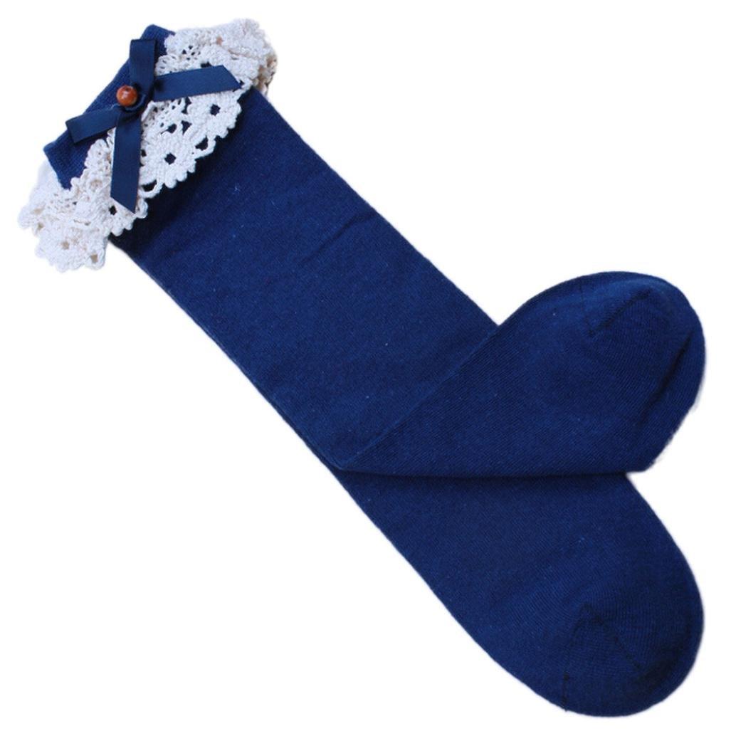 Leg Warmers Yoyorule Christmas Kids Baby Girls Lace Medium High Tube Pricess Socks
