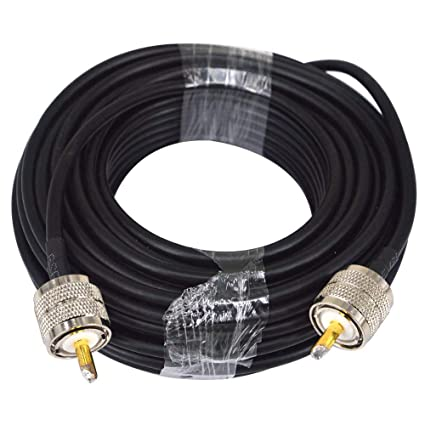RG58 15M Low Loss UHF PL-259 Male to Male WiFi Antenna Cable Coaxial PL259