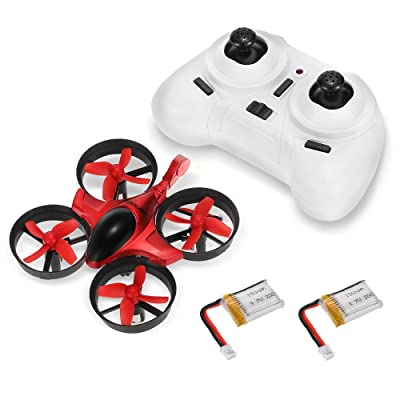 Mini RC Quadcopter - GoolRC T36 Drone 2.4G 4 Channel 6 Axis with 3D Flip Headless Mode One Key Return Nano Copters RTF Mode 2 with Bonus Battery for Kids Children: Toys & Games