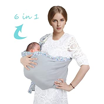 0eadde088 Amazon.com   Baby Ring Sling Wraps Carrier - 6 in 1 Adjustable And ...