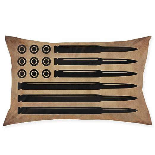 PLO AR15 Rifle Bandera Americana Militar Pistola Caza sofá ...