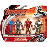"Marvel Avengers Age of Ultron Iron Man vs Ultron Exclusive 3 3/4"" Action Figure 3-Pack"