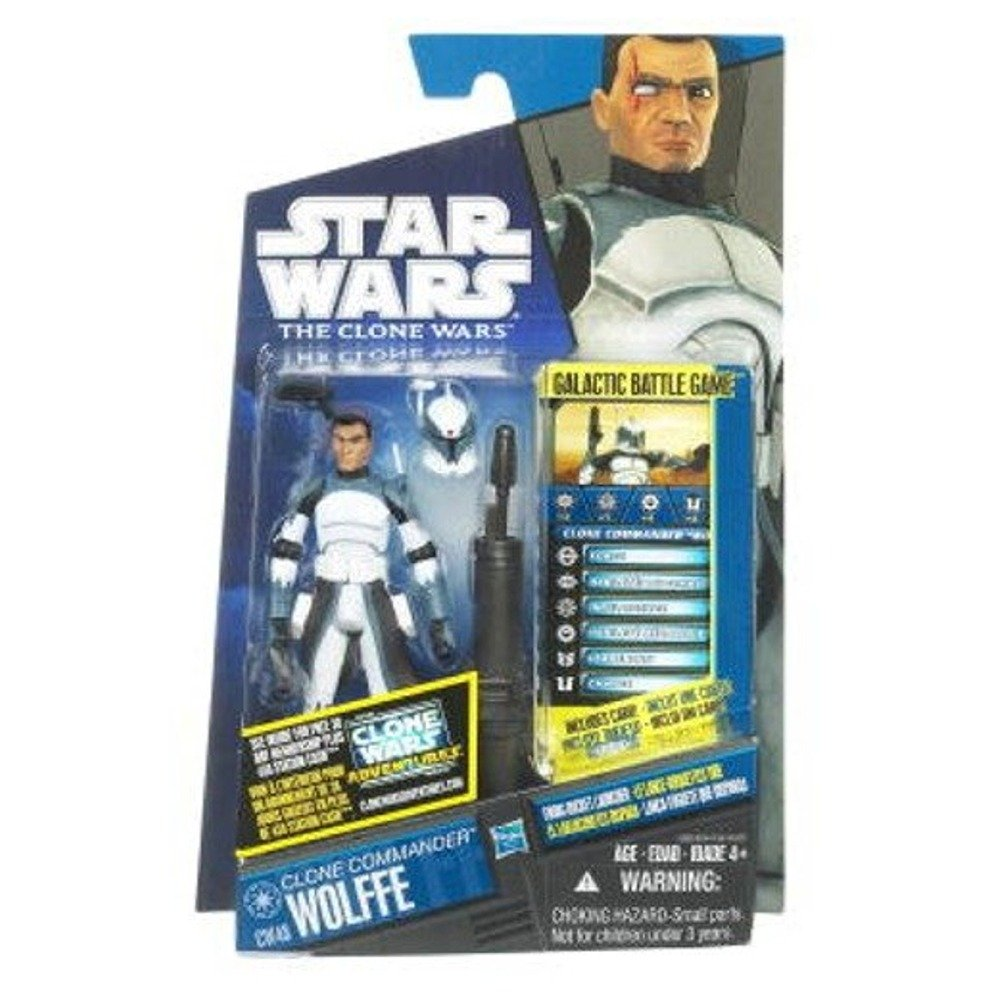 48 Clone Commander Wolfe Star Wars 2011 Clone Wars Animated Action Figure CW No