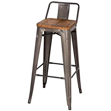 counter stool height standard upholstered stools with arms target stores low back wood seat gunmetal