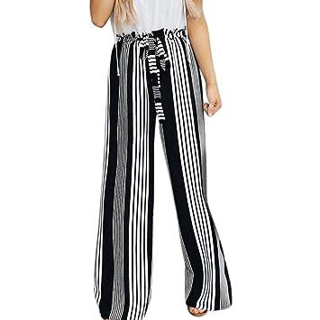 Sunnyuk Anchos para Mujer Moda Casual Pantalones de Vestir ...