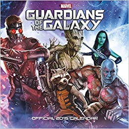 Book Official Guardians Of The Galaxy 2016 Square Wall Calendar (Marvel Film)