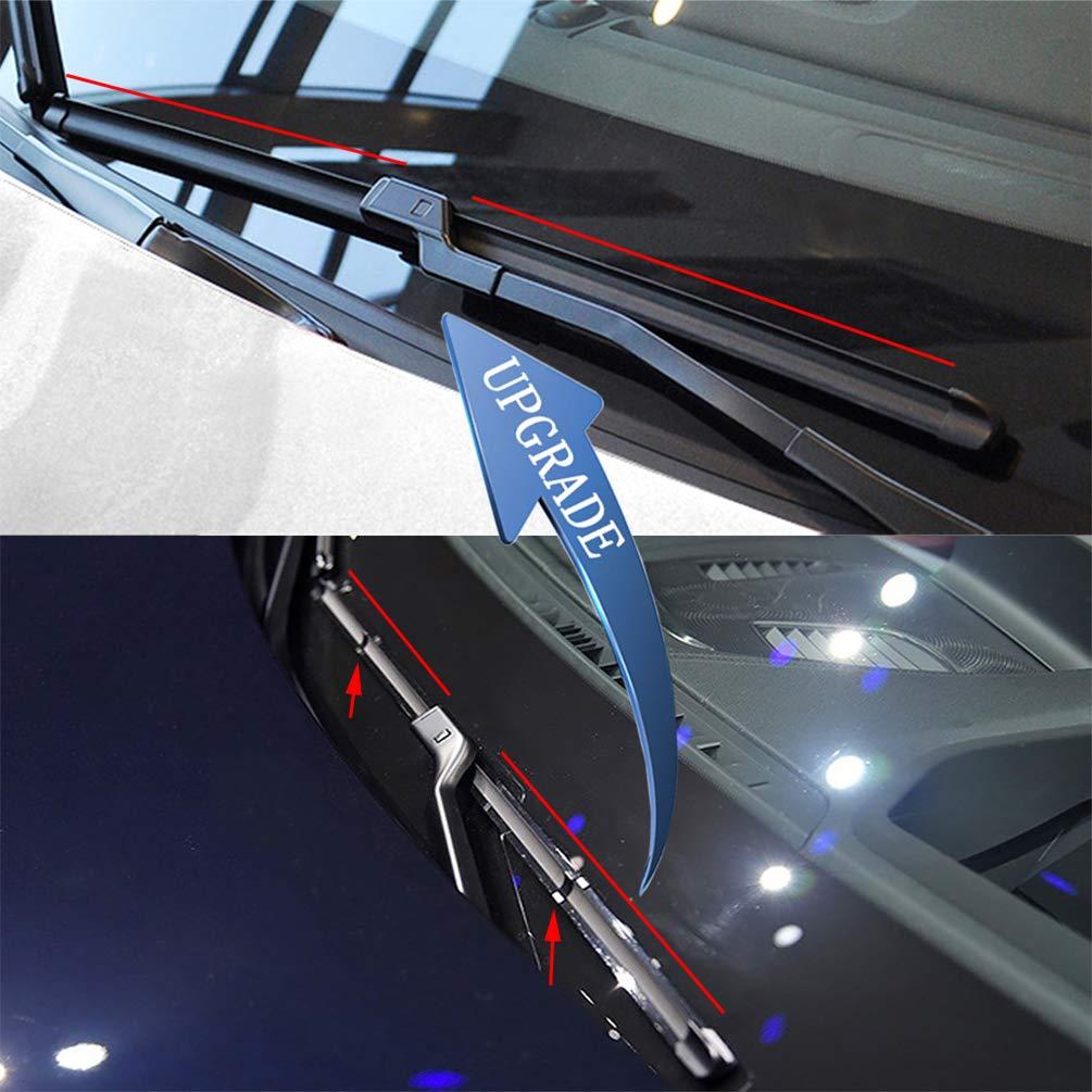 24//19 Set of 2 EMITHSUN 2 factory wiper for BMW E90 E91 3-Series 4-Door 325xi 328i 328xi 328ixDrive 330i 330xi 335i 335xi M3 06//2006-08//2009 Front Windshield Wiper Blade Set Side Lock 19mm
