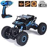 AJUDIYA ENTERPRISE 1:18 Rechargeable 4Wd 2.4GHz Rock Crawler Off Road R/C Monster Truck Toy for Kids (Random Colour)