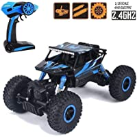 Ajudiya's 1:18 Rechargeable 4Wd 2.4GHz Rock Crawler Off Road R/C Car Monster Truck Kids Toys | Remote Control Cars for Kids (Random Colour)