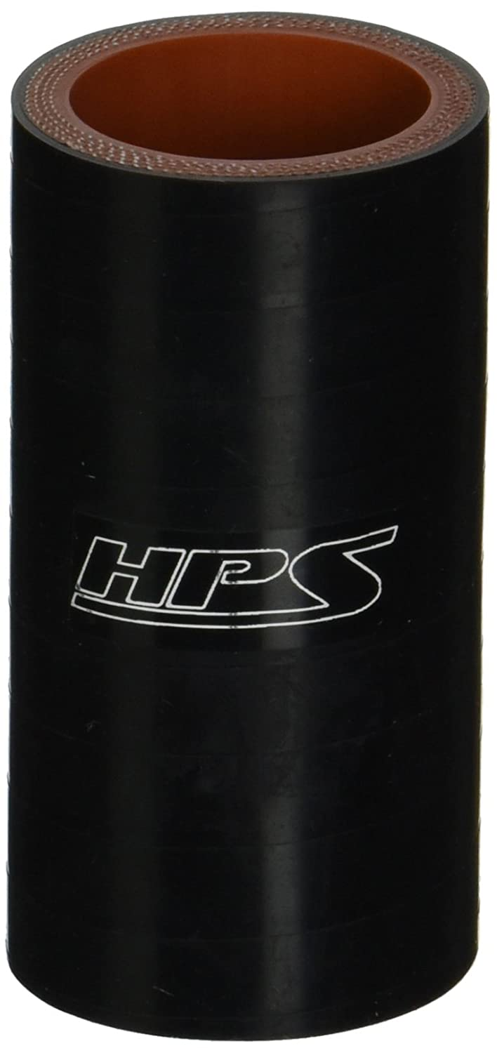 HPS Silicone Hoses HTSC-118-BLK Silicone High Temperature 4-Ply Reinforced Straight Coupler Hose, 100 PSI Maximum Pressure, 3' Length, 1-3/16' ID, Black 3 Length 1-3/16 ID