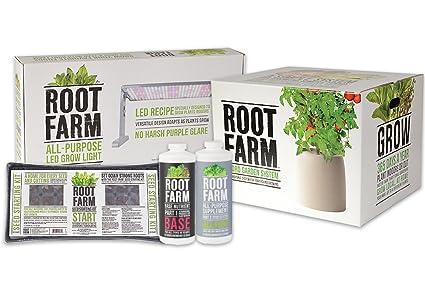 Indoor Hydroponic Garden Amazon root farm indoor hydroponic gardening system starter root farm indoor hydroponic gardening system starter package workwithnaturefo
