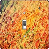 Rikki Knight RK-LSPS-9276 Colorful Abstract Vintage Painting Design Light Switch Plate Cover