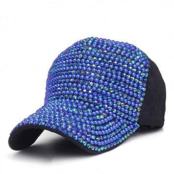 SYQY Gorra de Beisbol Gorra de béisbol Mujer Perlas Diamantes de ...