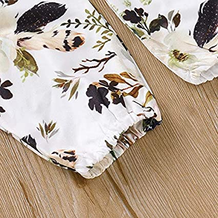 Sfuzwg Infant Baby Girl Clothes Sets 2pcs Outfits Romper Pants Autumn Winter Floral Bodysuits