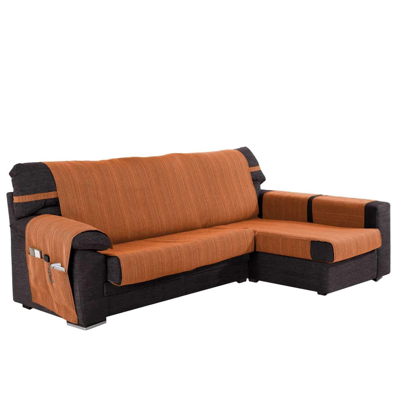 Funda Cubre Chaise Longue Modelo Darsena, Color Naranja, Medida Brazo Derecho – 280cm (Mirándolo de Frente)