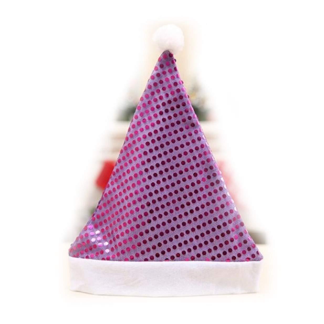 LALANG Santa Sparkle Sequin Hat Christmas Party Decorations Accessory(Purple)