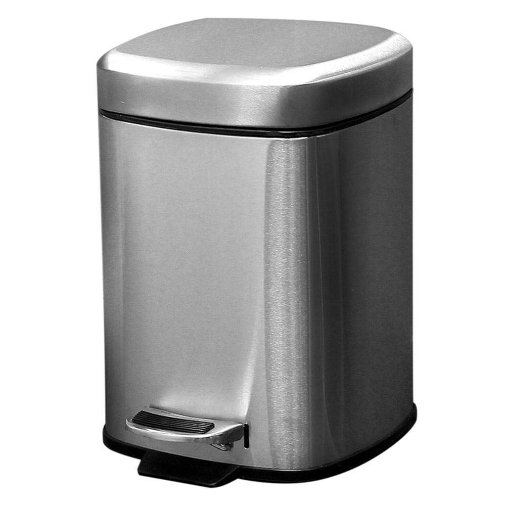 headytidy 6L Stainless Steel Step Trash Can Pedal Garbage Bin with Removable Trash Bin Liner for Kitchen, Office, Home - Silent and Gentle Open and Close by headytidy