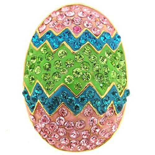 Erinite Easter Egg Crystal Pin (Crystal Easter Pin)