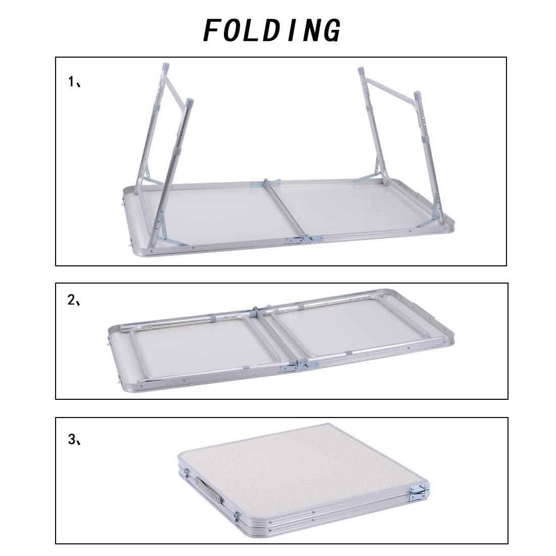 Sunreal 1 2 M Table Pliante En Aluminium Table De Camping