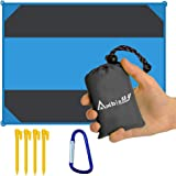 "Ambielly Beach Blanket Waterproof Sand-proof Outdoor Blanket Portable Oversized <84.6""x63""> Picnic Mat for Travel,Camping,Hiking,Beach and Music Festivals"