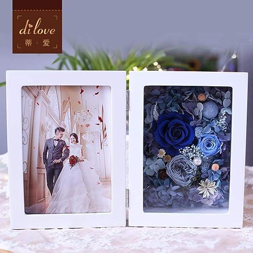 CFLYSH Eternal Flower Photo Frame Rose Flower Album Regalo ...