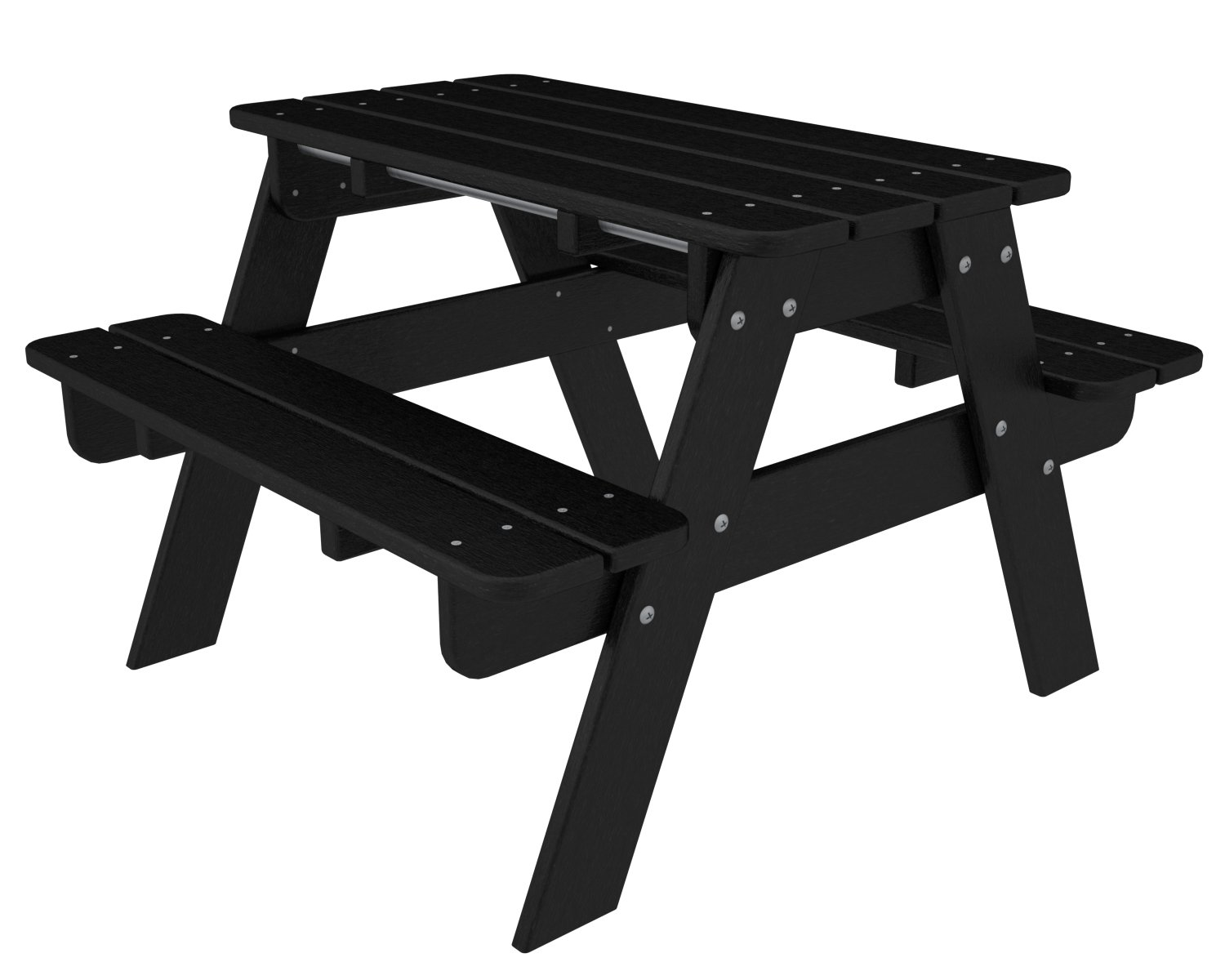 Amazoncom POLYWOOD KTBL Kids Picnic Table Black Garden Outdoor - Polywood park picnic table