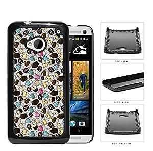 Eye With Magenta Chevron Design Hard Plastic Snap On Cell Phone Case HTC One M7 Kimberly Kurzendoerfer