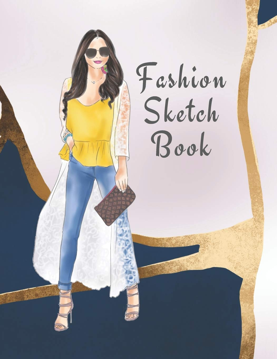Fashion Sketch Book The Book For Sketching Your Artistic Fashion Design Ideas Including 2 Women Line Shapes Silhouettes To Help You Sketch Draw Your Inspiration And Passion 122 Pages The Prints You