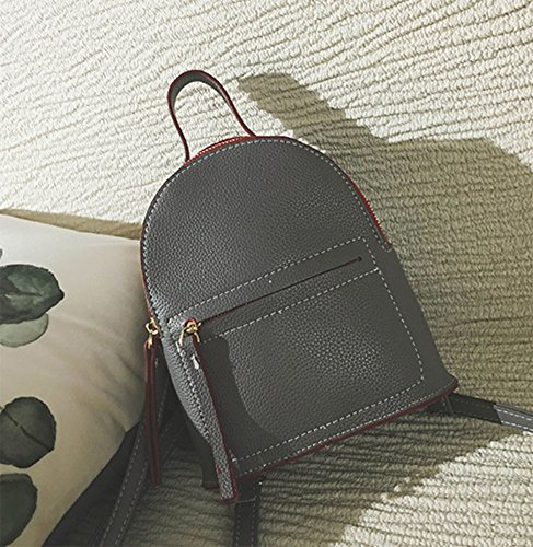 ModaKeusu Casual Purse Fashion School Leather Backpack Shoulder Bag Mini Backpack for Women & Girls
