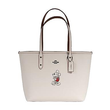 53103b9e COACH Tote Handbag Bag Leather With Mickey Disney