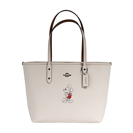 a2513e56786 ... promo code for coach tote handbag bag leather with mickey disney 627f1  77ab7