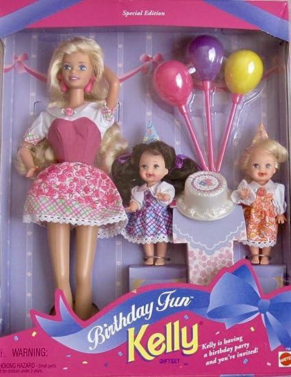 Barbie Birthday Fun KELLY Giftset Special Edition w Barbie, Kelly & Chelsea Dolls & Accessories (1996)