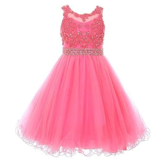 c9a3d510b Amazon.com  Cinderella Couture Big Girls Bubble Pink Rhinestone ...