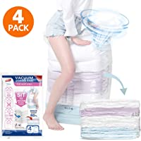 4-Pack TAILI Cube Vacuum Space Saver Bags Jumbo and Storage Bags for Comforters