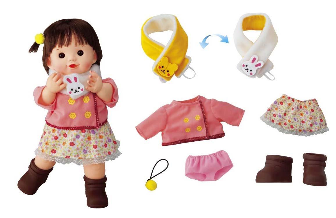 Po Po bunny girl chan skin soft doll Po Po Chan  2WAY muffler bear (japan import)