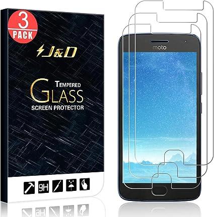 J&D Compatible para 3-Pack Moto G5 Plus 5.2 Protector de ...